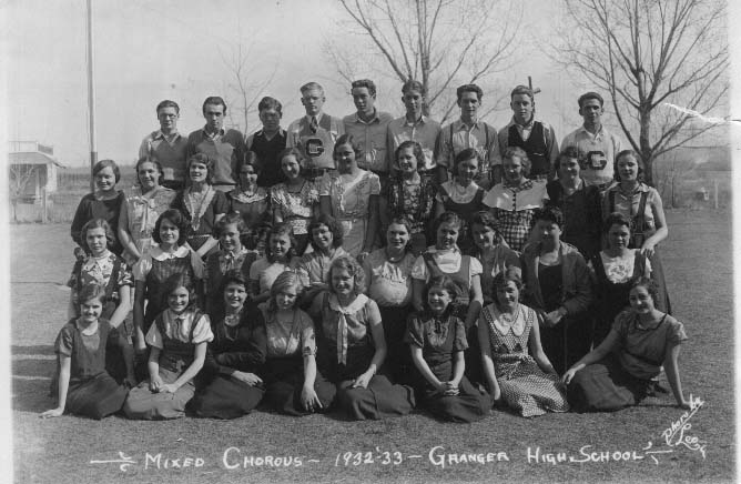 Granger High School Mixed Chorus 1932-33. Granger HS Mixed Chorus 1932-33